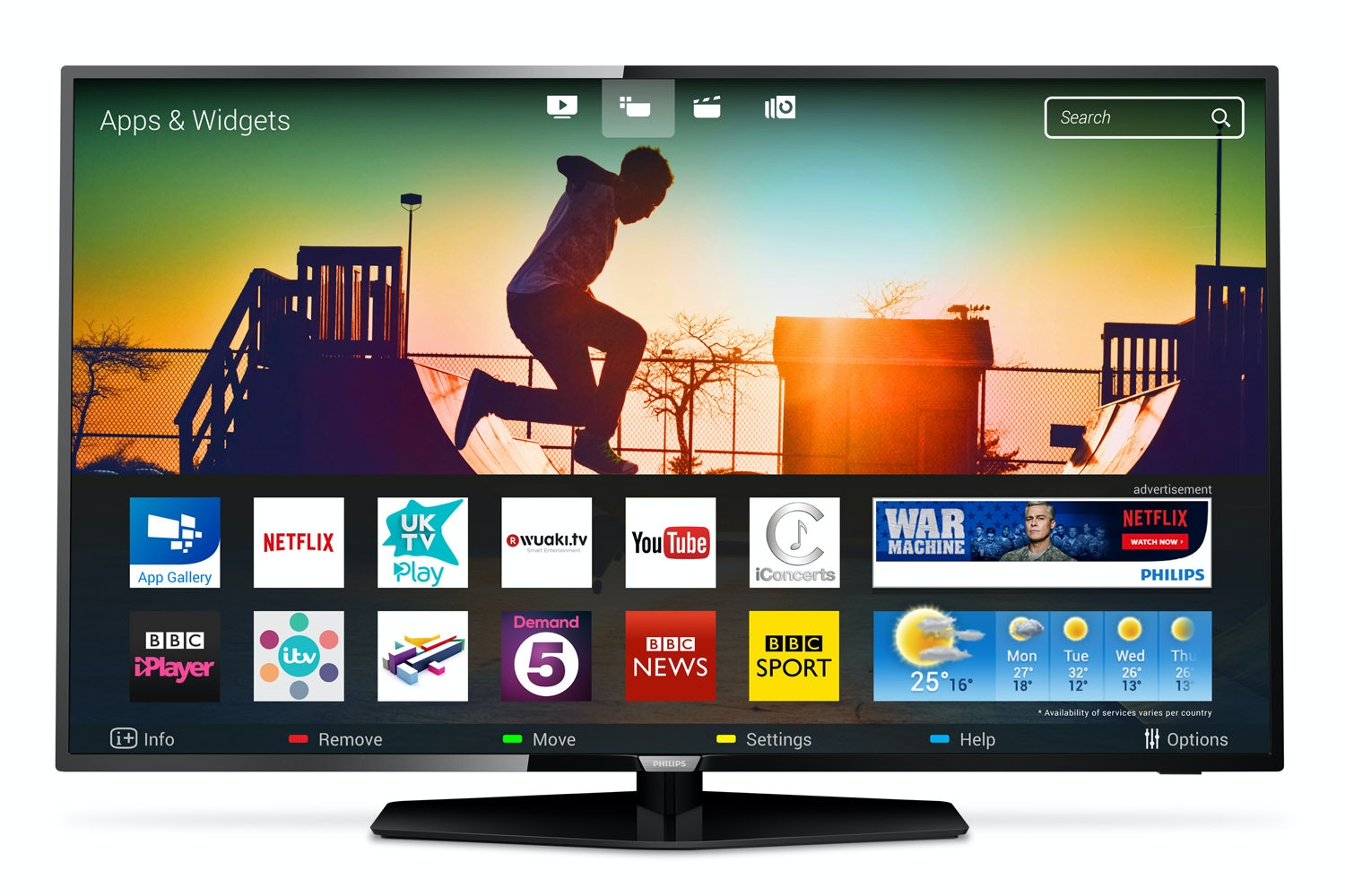 "Philips 49"" 4K Ultra Slim Smart LED TV 