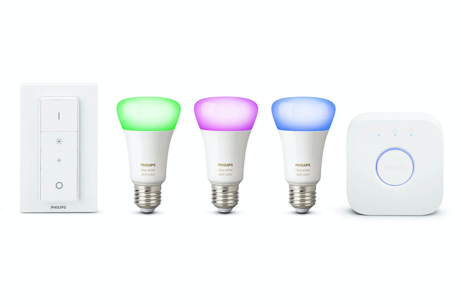 Philips Hue White & Colour Ambiance E27 Starter Kit