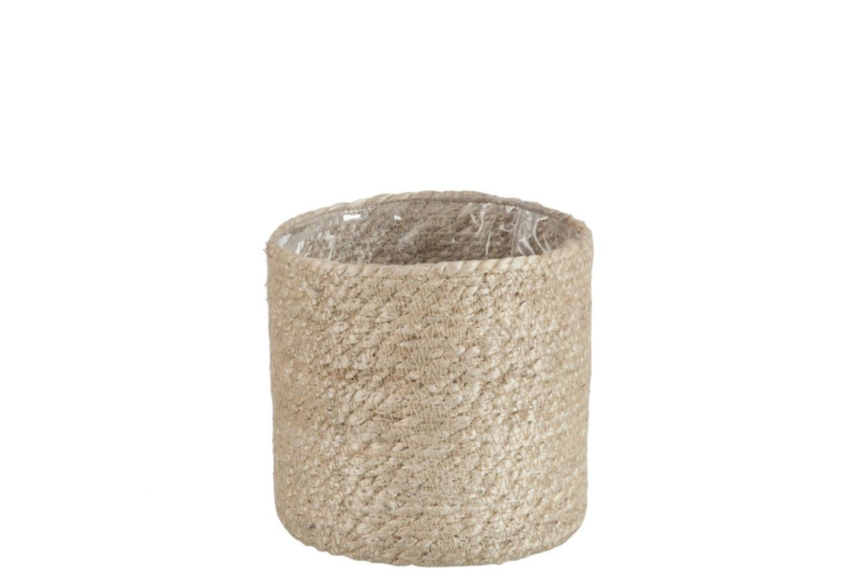 Cylinder Flowerpot in Natural  Jute | Medium