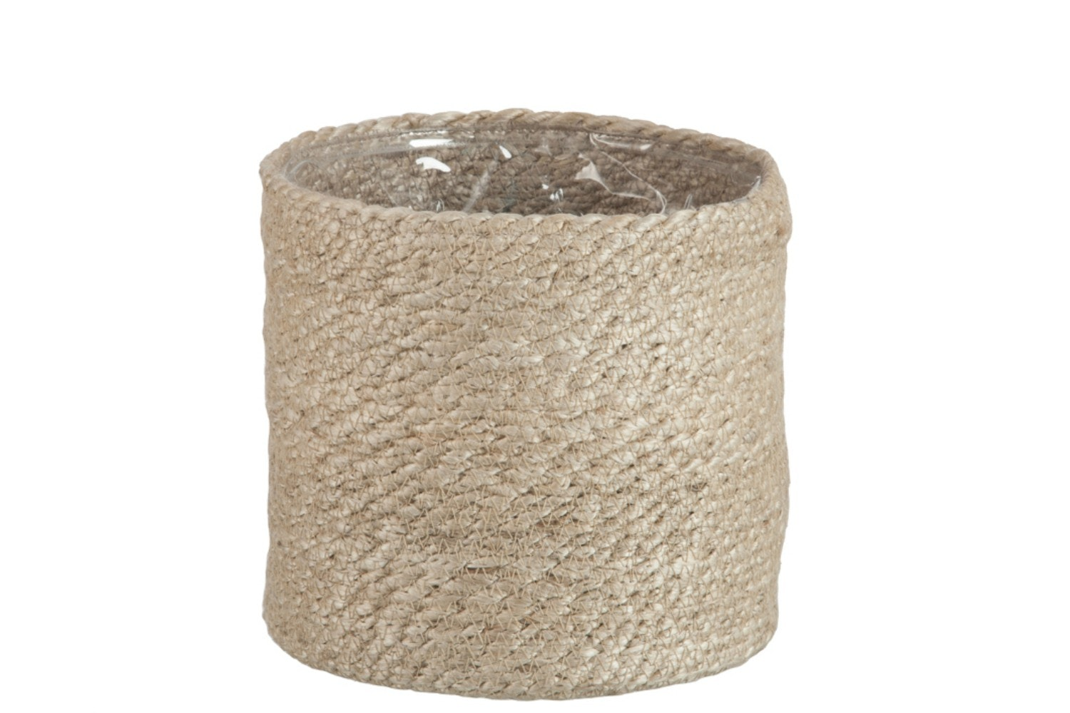 Cylinder Flowerpot in Natural Jute | Large