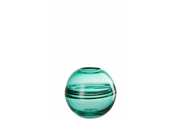 Ball Stripe Vase | Green | Small