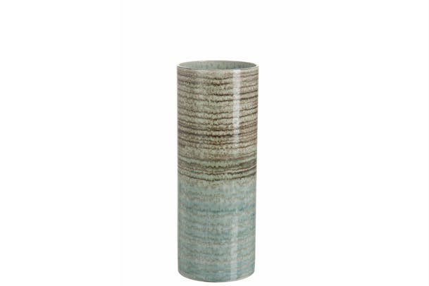 Vase Trans Stripe Ceramic Vase | Small