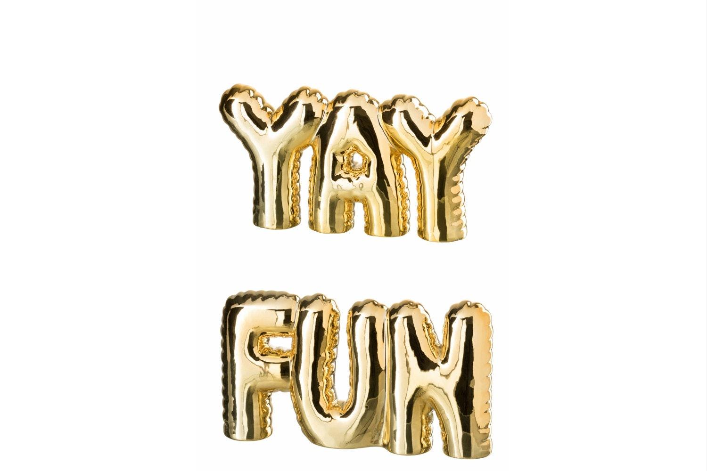 Fun/Yay Ceramic Gold