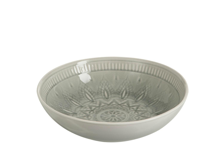 Ceramic Dish Fruit Bowl in Grey | Large