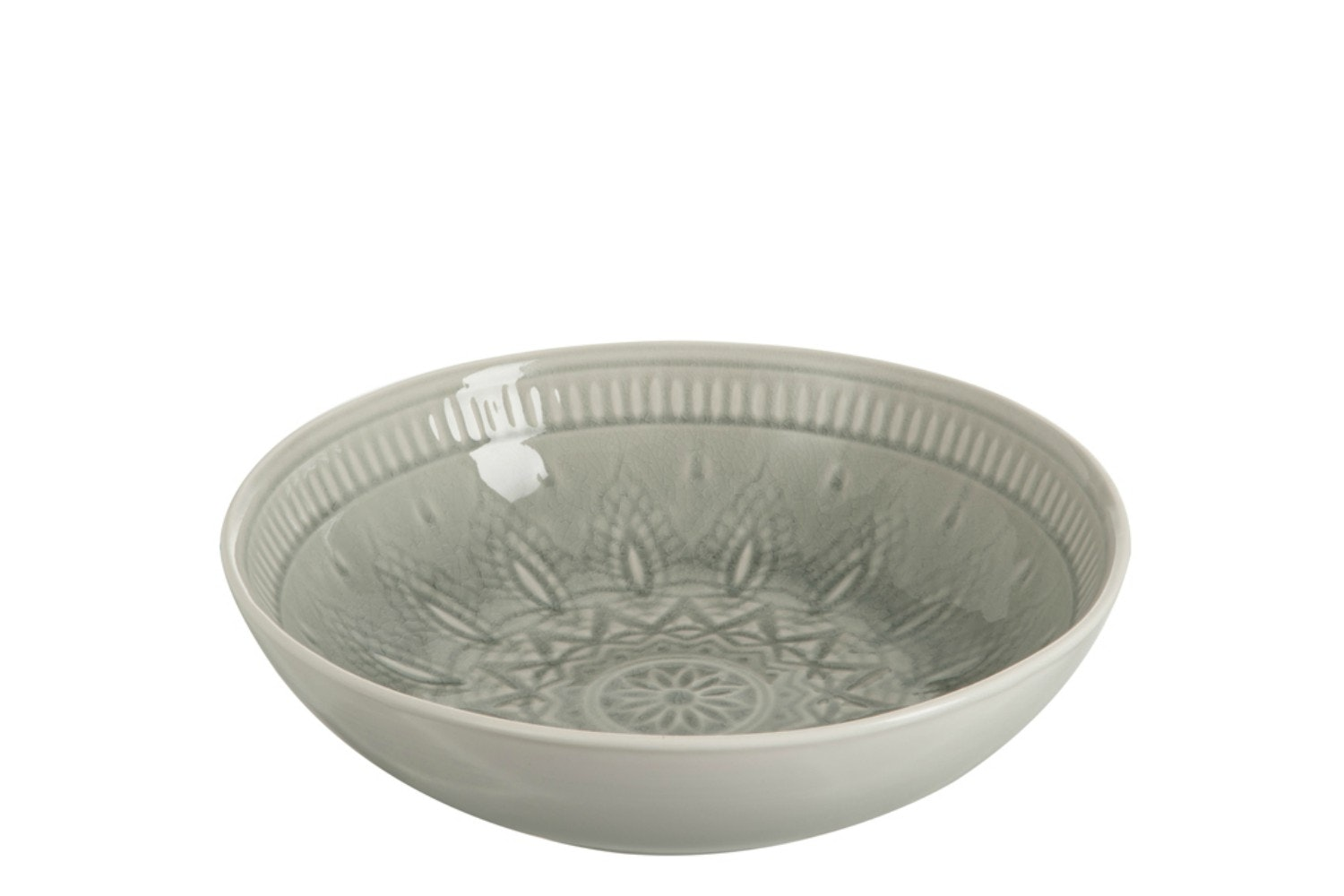 Ceramic Dish Fruit Bowl in Grey | Large