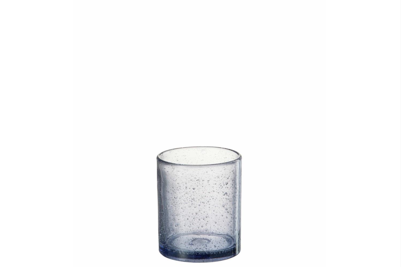 Glass Tealight Holder   Lavender