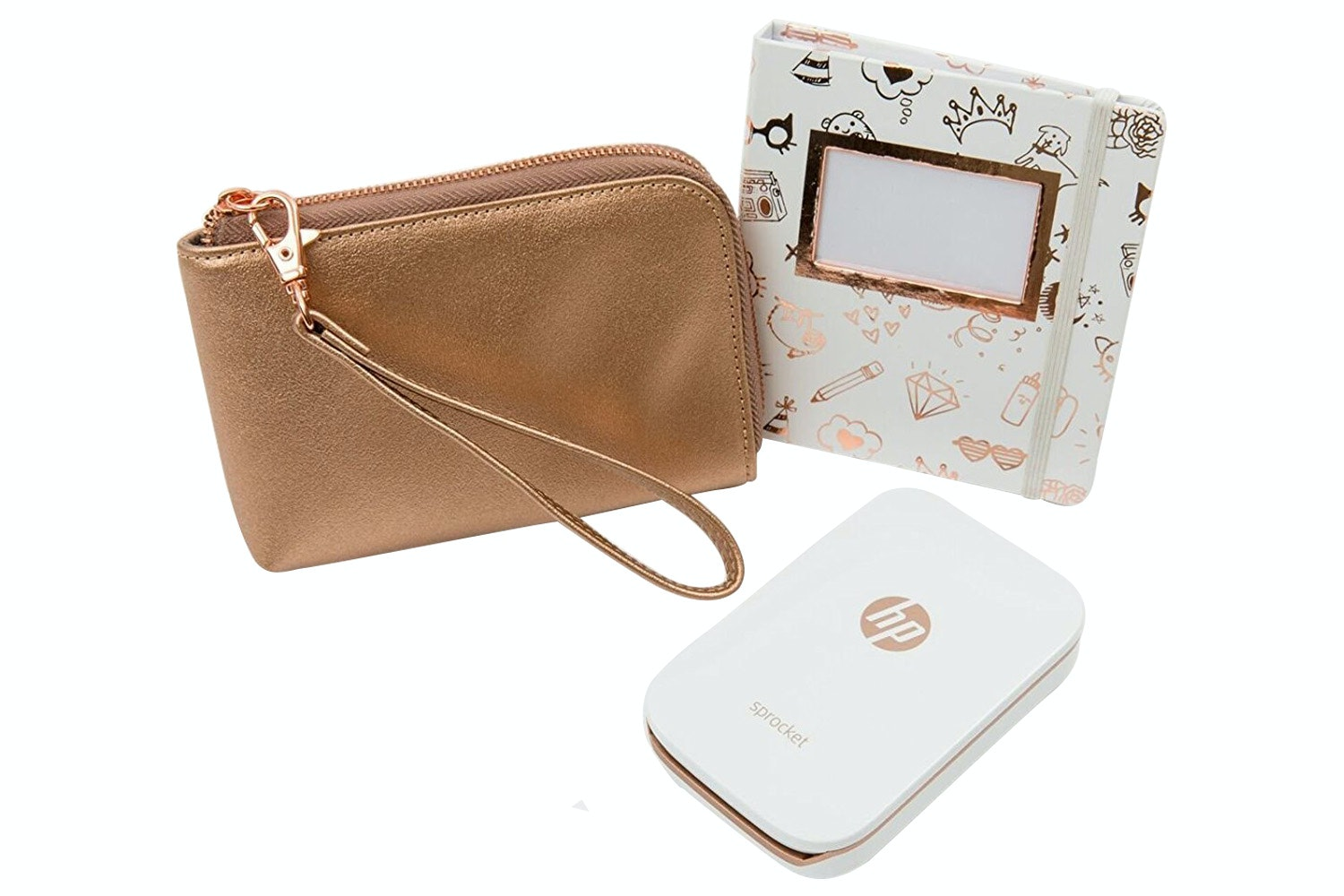 HP Sprocket Photo Printer | Limited Edition Bundle White & Gold