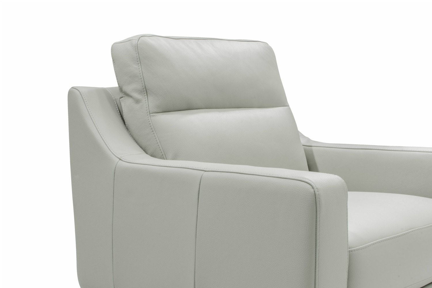 Borgo Leather Armchair | Grey