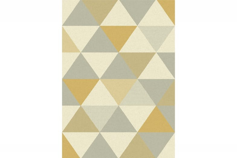Focus Grey & Mustard Triangles | 120X170