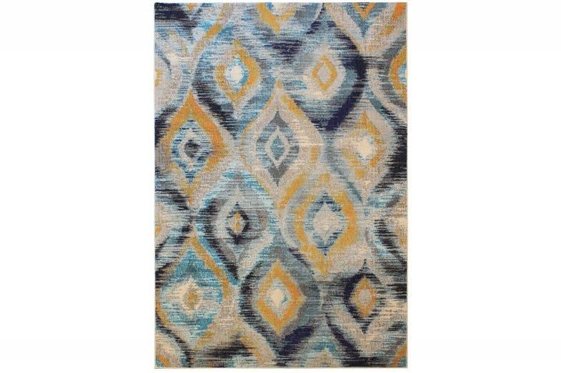 Colores Blue & Mustard   160X230