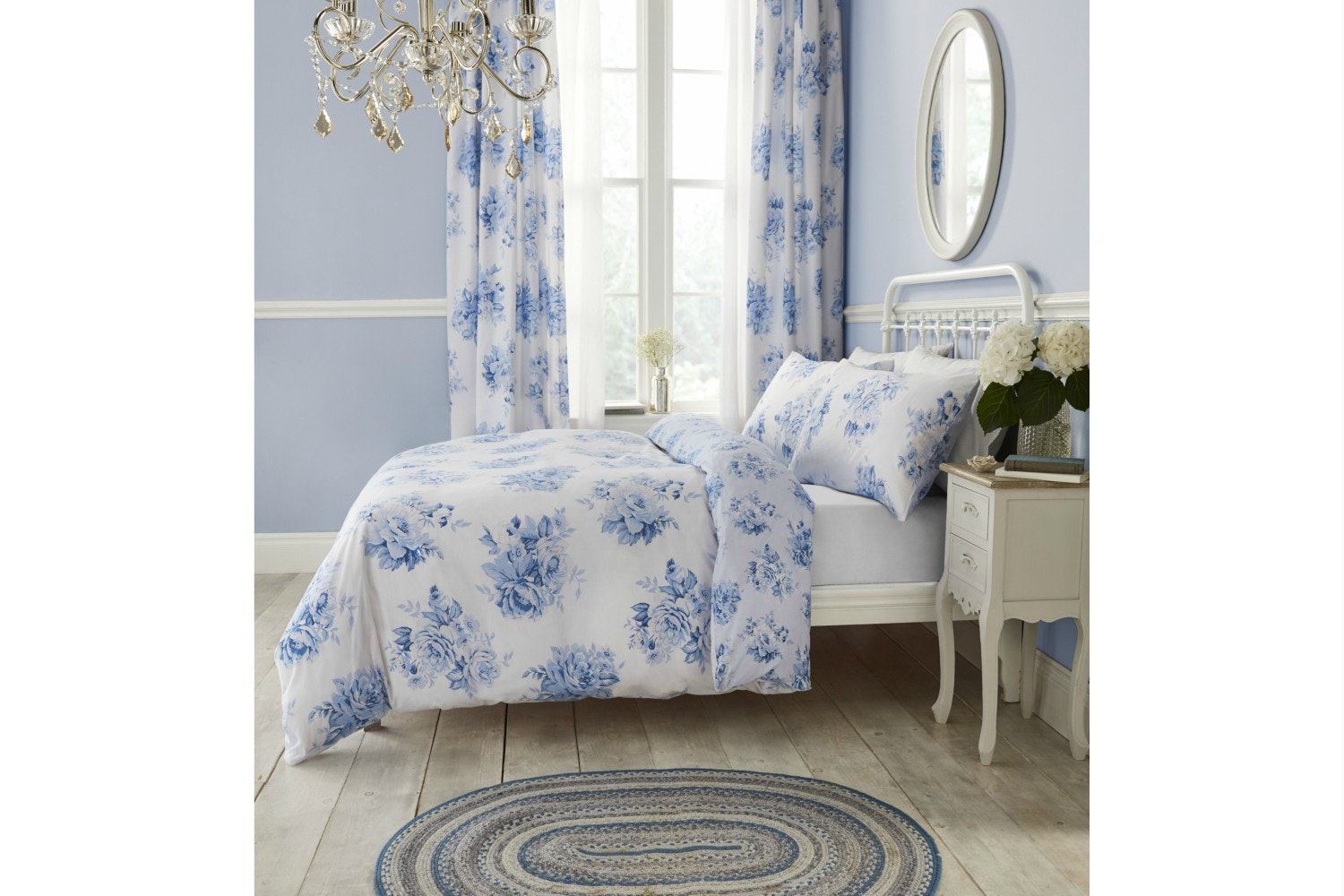 Canterbury Floral Blue Duvet Cover | King
