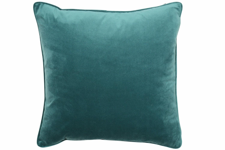 Plain Jade Piped Velvet Cushion