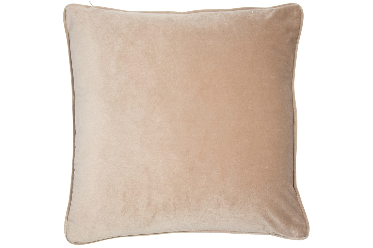 Plain Mink Piped Velvet Cushion