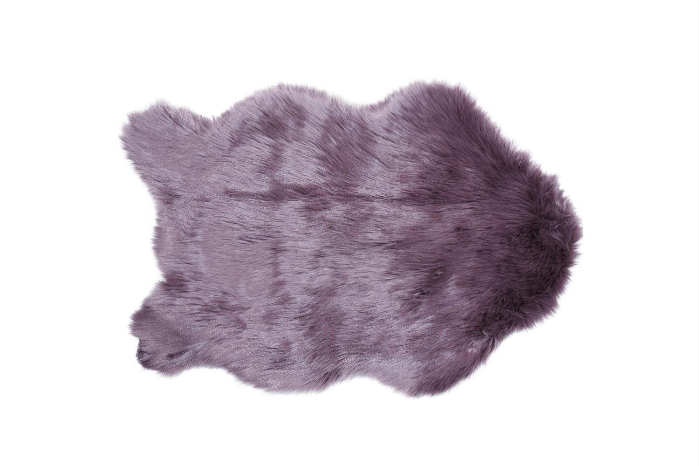 Faux Sheepskin Rug | Amethyst