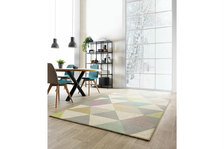 Focus Grey & Mustard Triangles Rug  160X230