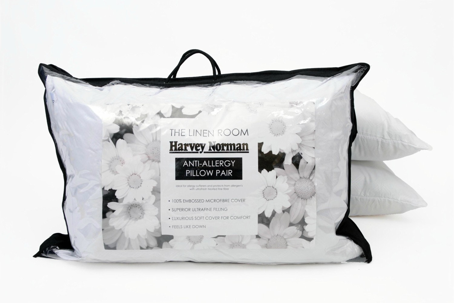 The Linen Room  Anti - Allergy Pillow Pair