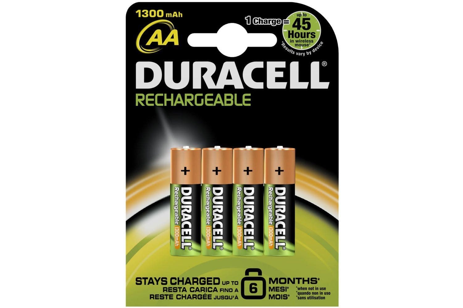 Duracell Rechargeable AA Batteries | 4 Pack