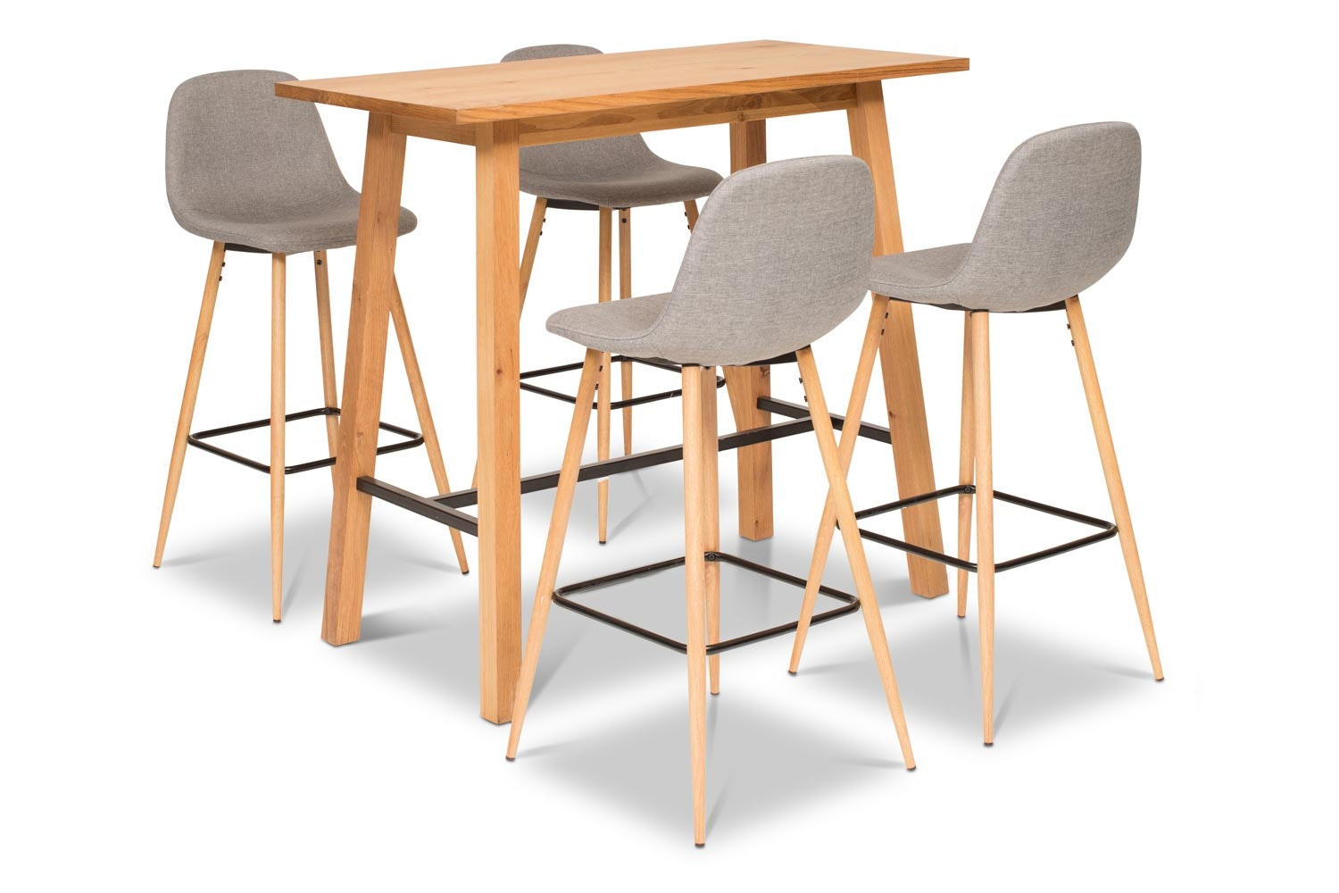 Stockholm Bar Table With 4 Wilma Bar Stools