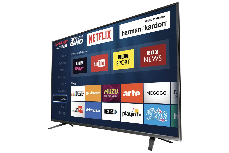 "Sharp 65"" 4K Ultra HD Smart LED TV   LC-65CUG8052K"