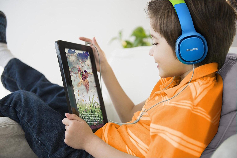 Philips On Ear Headphones | Blue & Green