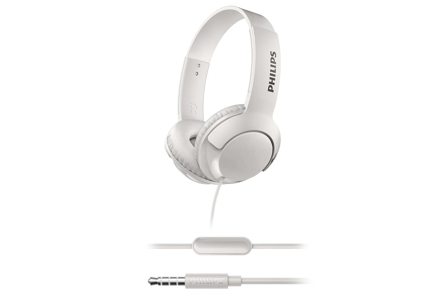 Philips On Ear Headphones with Mic | White