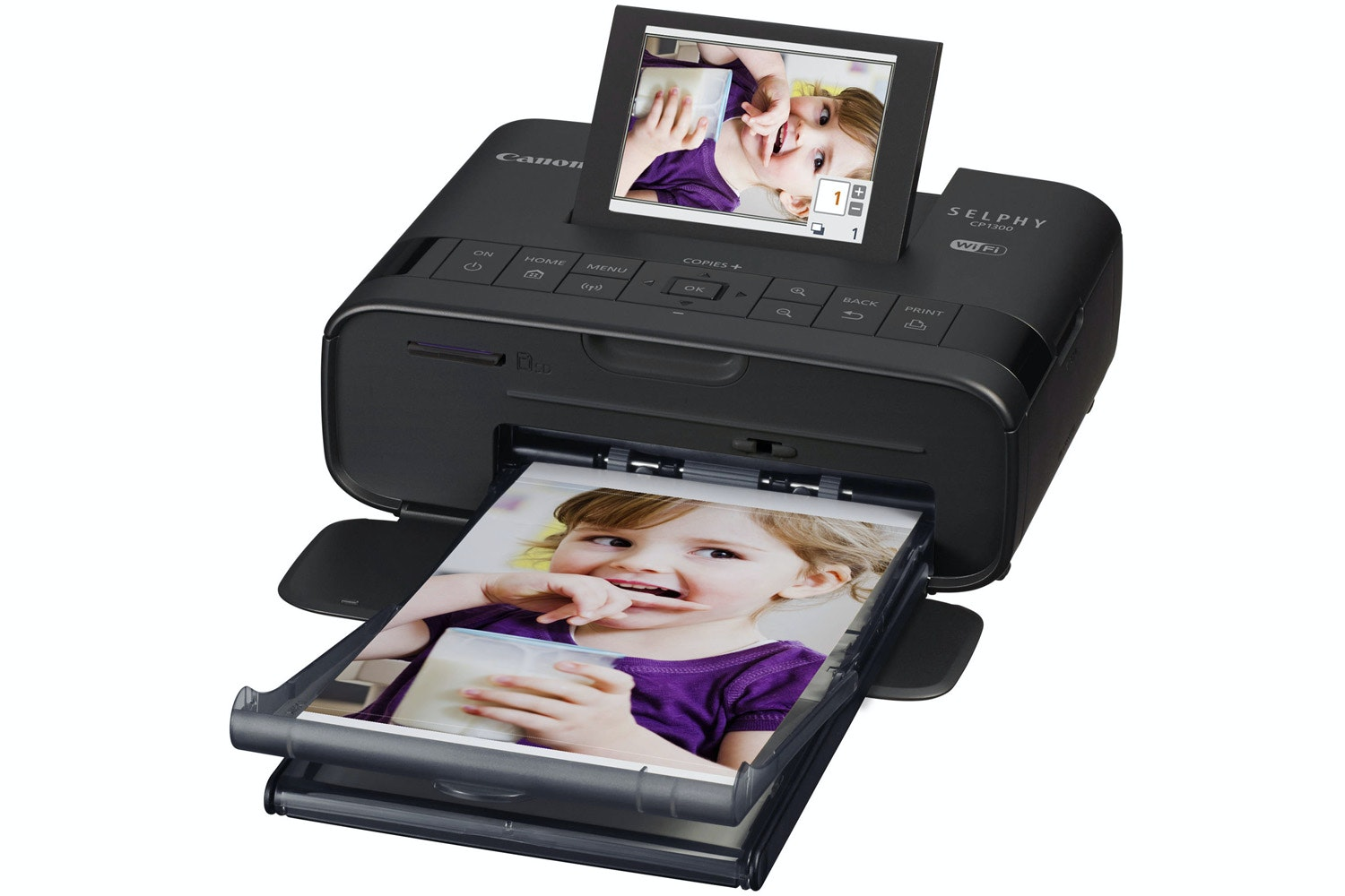 Canon Selphy CP1300 Portable Photo Printer | Black