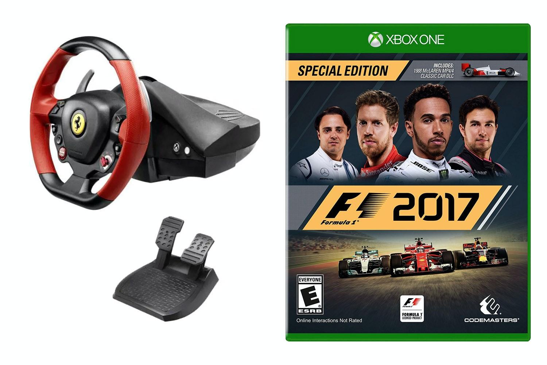 Ferrari 458 Steering Wheel & F1 2017 | Xbox One