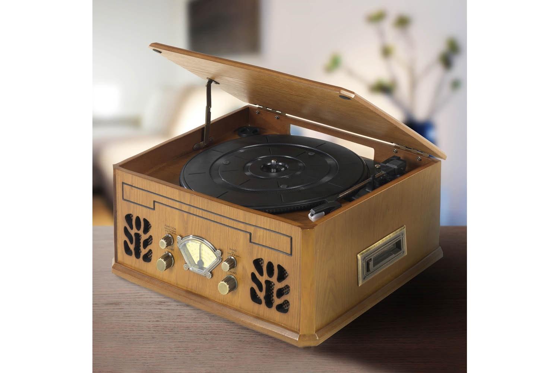 itek Antique Record CD Cassette Radio 4-in-1 Player