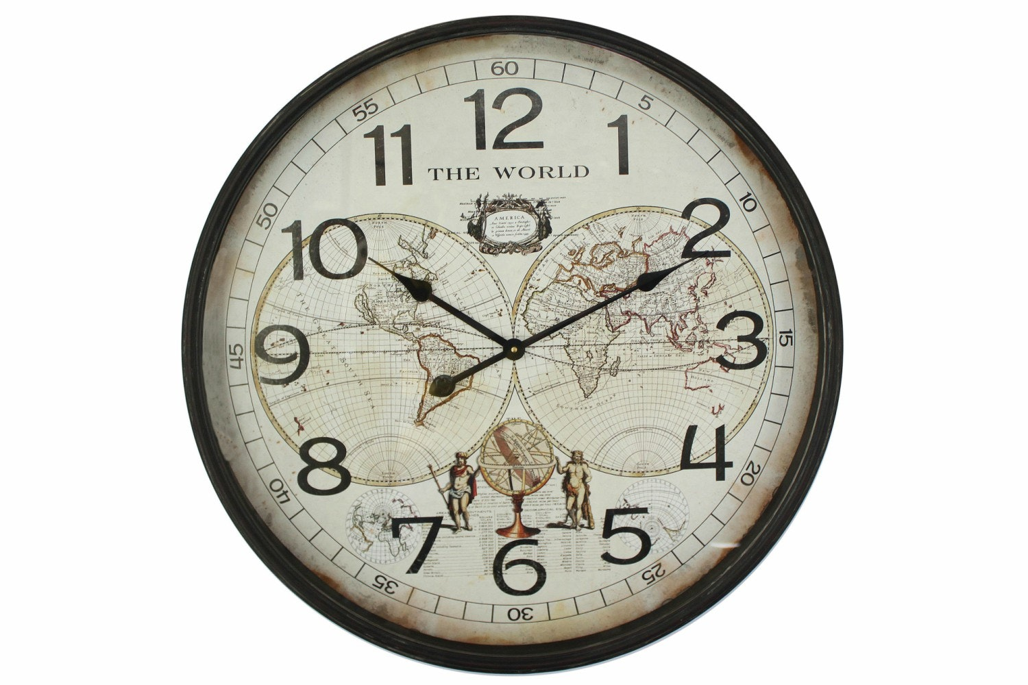 Iron Map Wall Clock