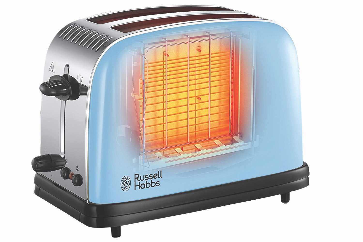 Russell Hobbs Colours Plus 2 Slice Toaster | 23335 |  Blue
