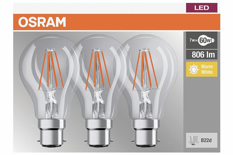 Osram 7W B22d LED Bulb | White