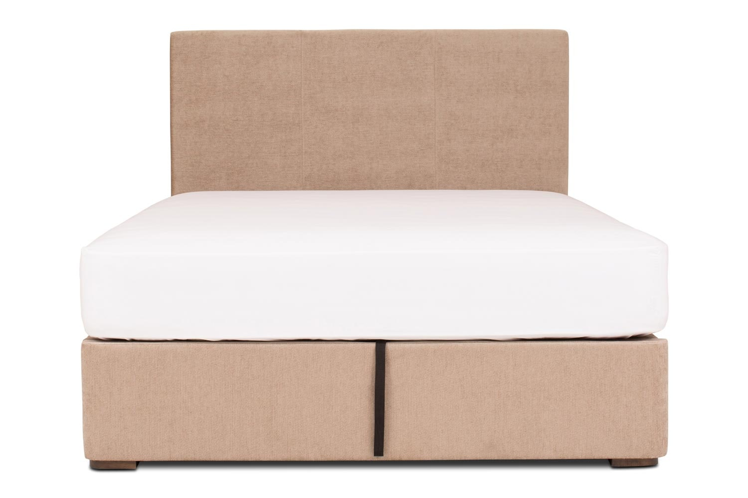 Duval Ottoman Bed with V Stitch Headboard | 6Ft | Mink