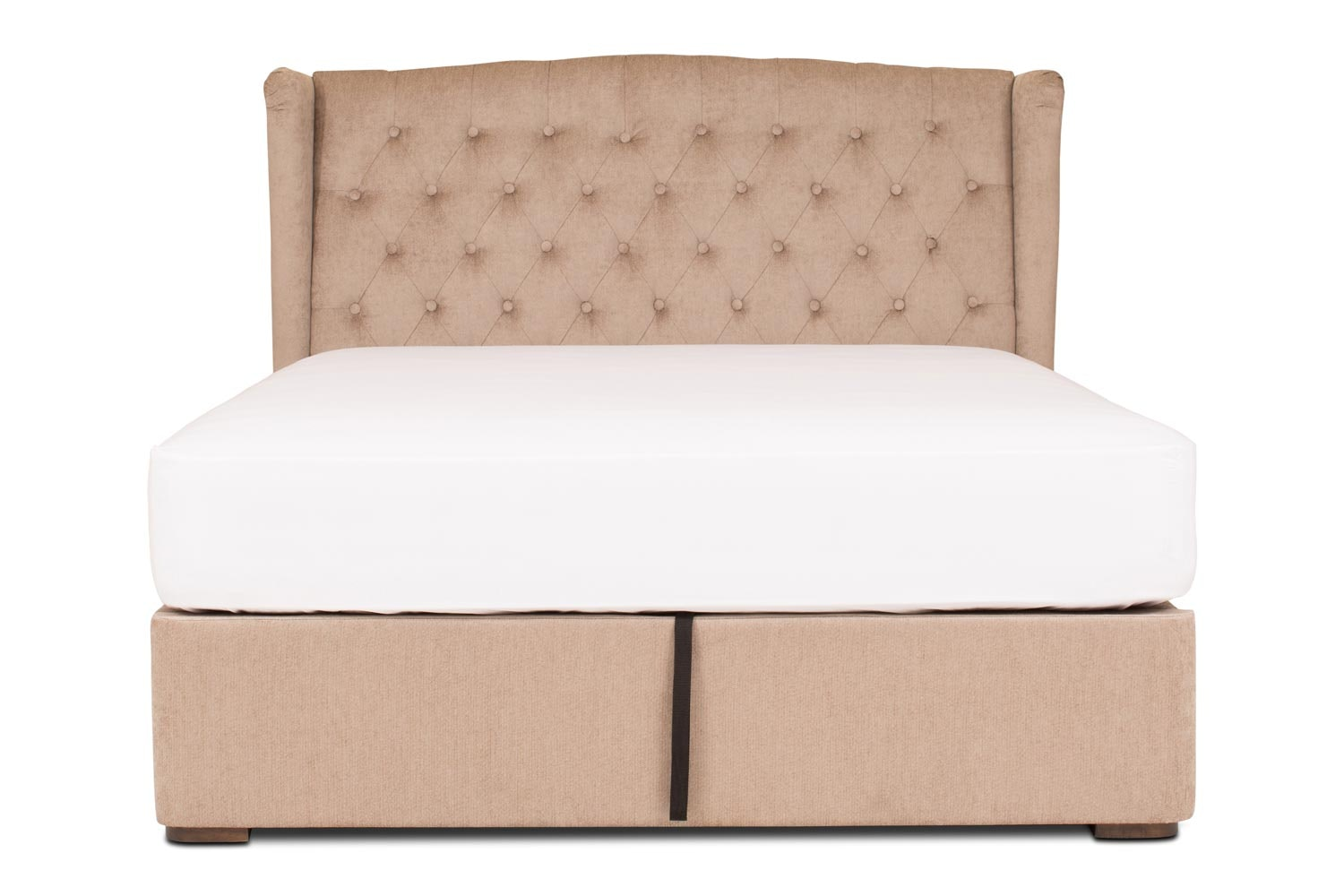 Duval Ottoman Bed with Winged Headboard | 5Ft | Mink