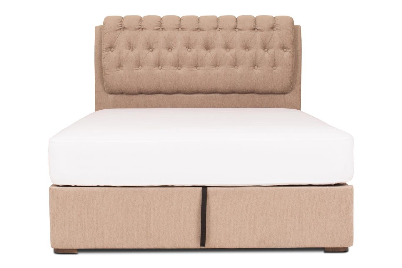 Duval Ottoman Bed with Regency Headboard | 5Ft | Mink