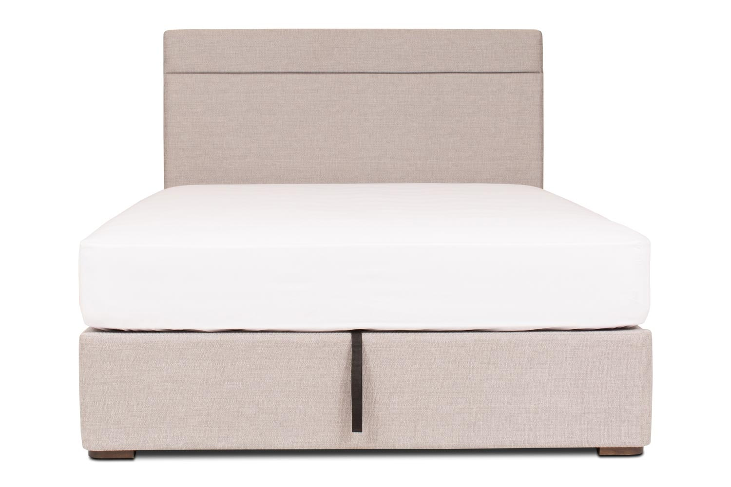Duval Ottoman Bed with H Stitch Headboard | 6Ft | Grey