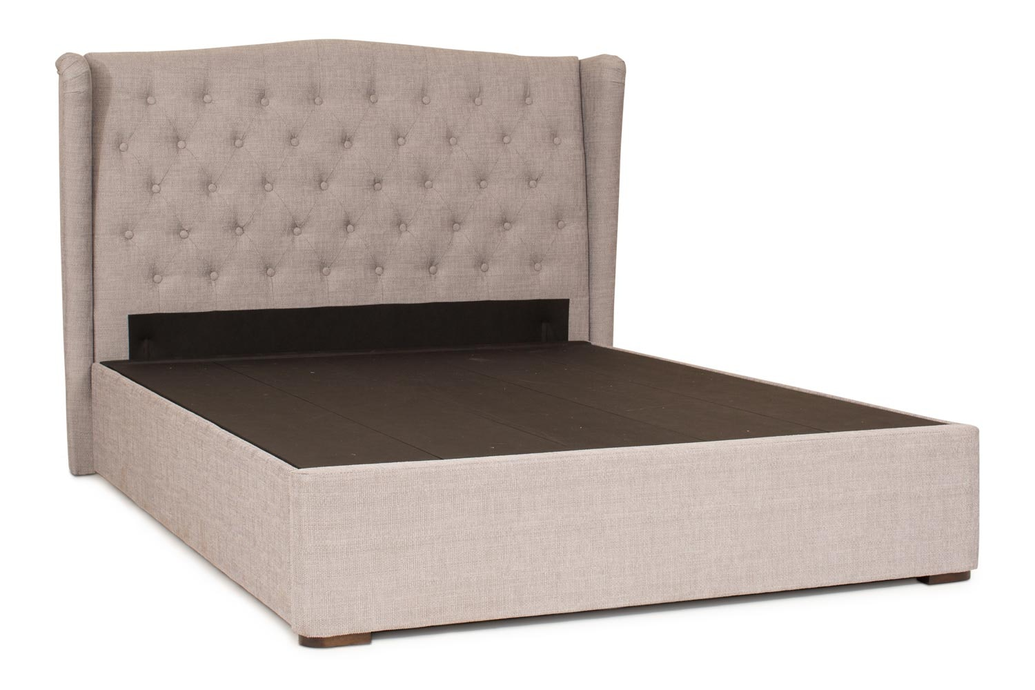 Duval Bed with Winged Headboard | 4Ft6 | Grey