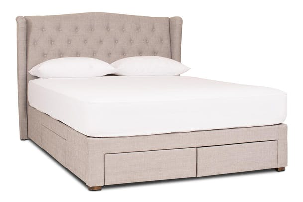 193627c46580 Duval Storage Bed with Winged Headboard | 5Ft | Grey