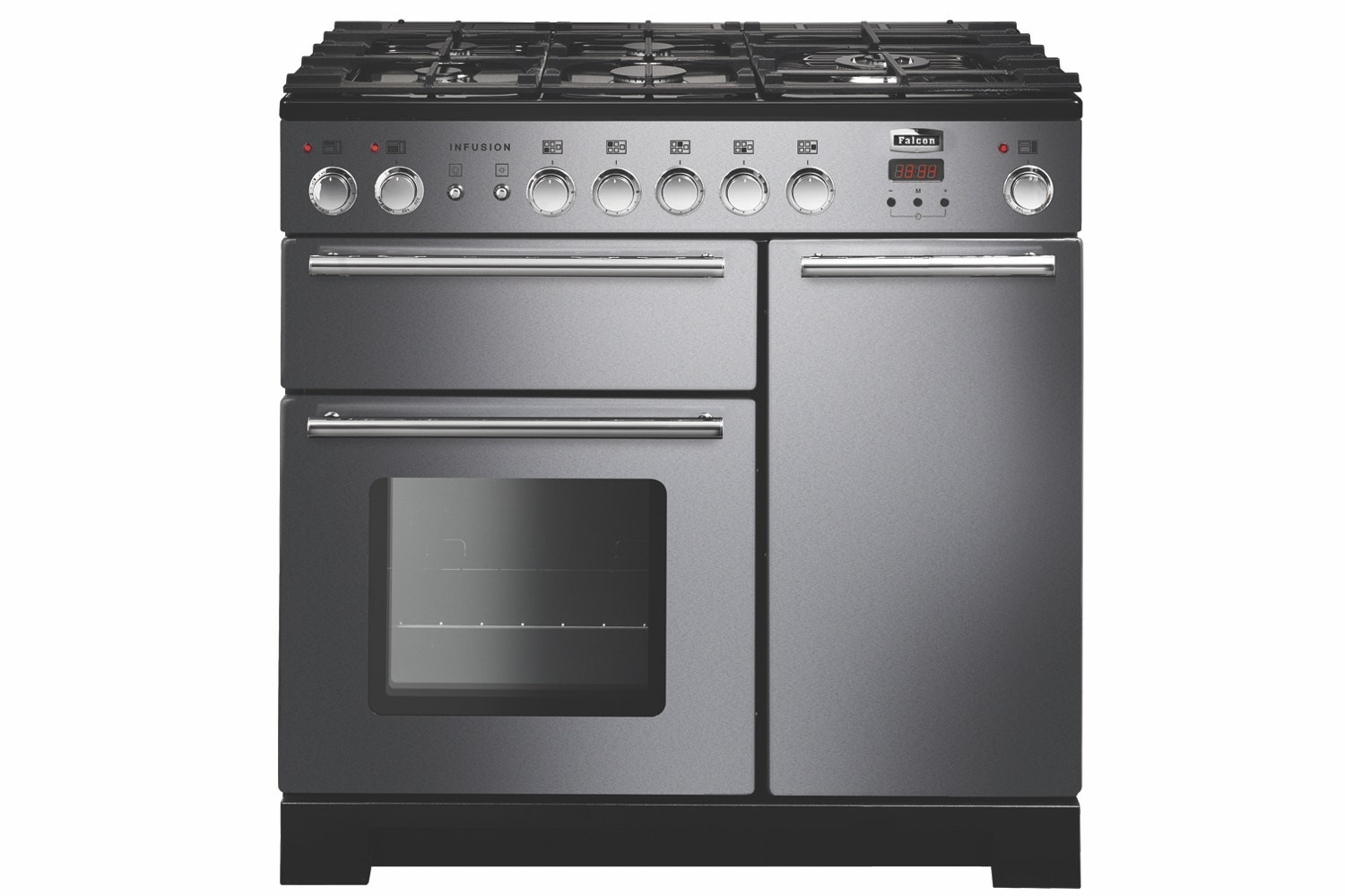 Rangemaster Infusion 90cm Dual Fuel Range Cooker | INF90DFFSS | Stainless Steel