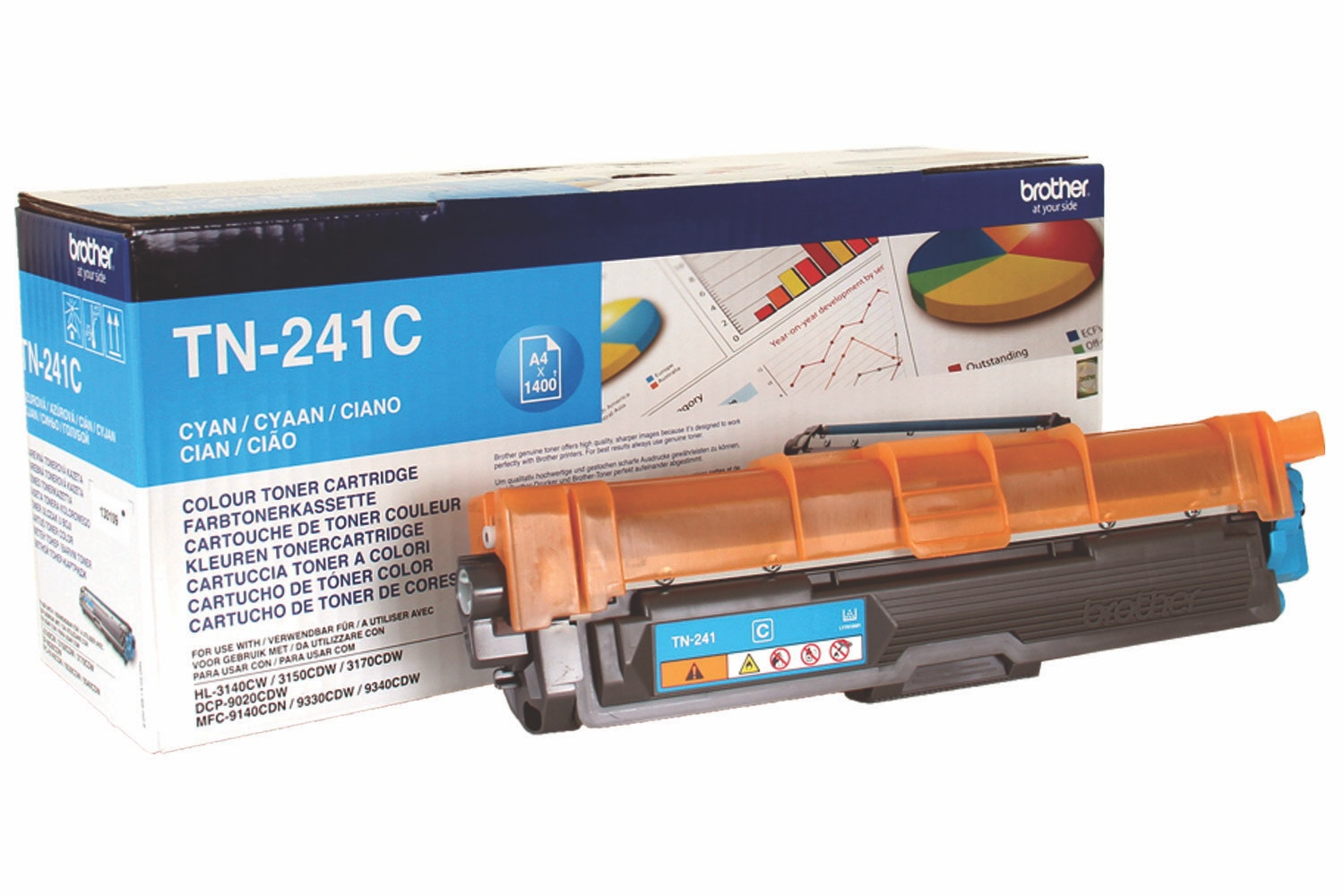 Brother TN241C Toner Cartridge | Cyan