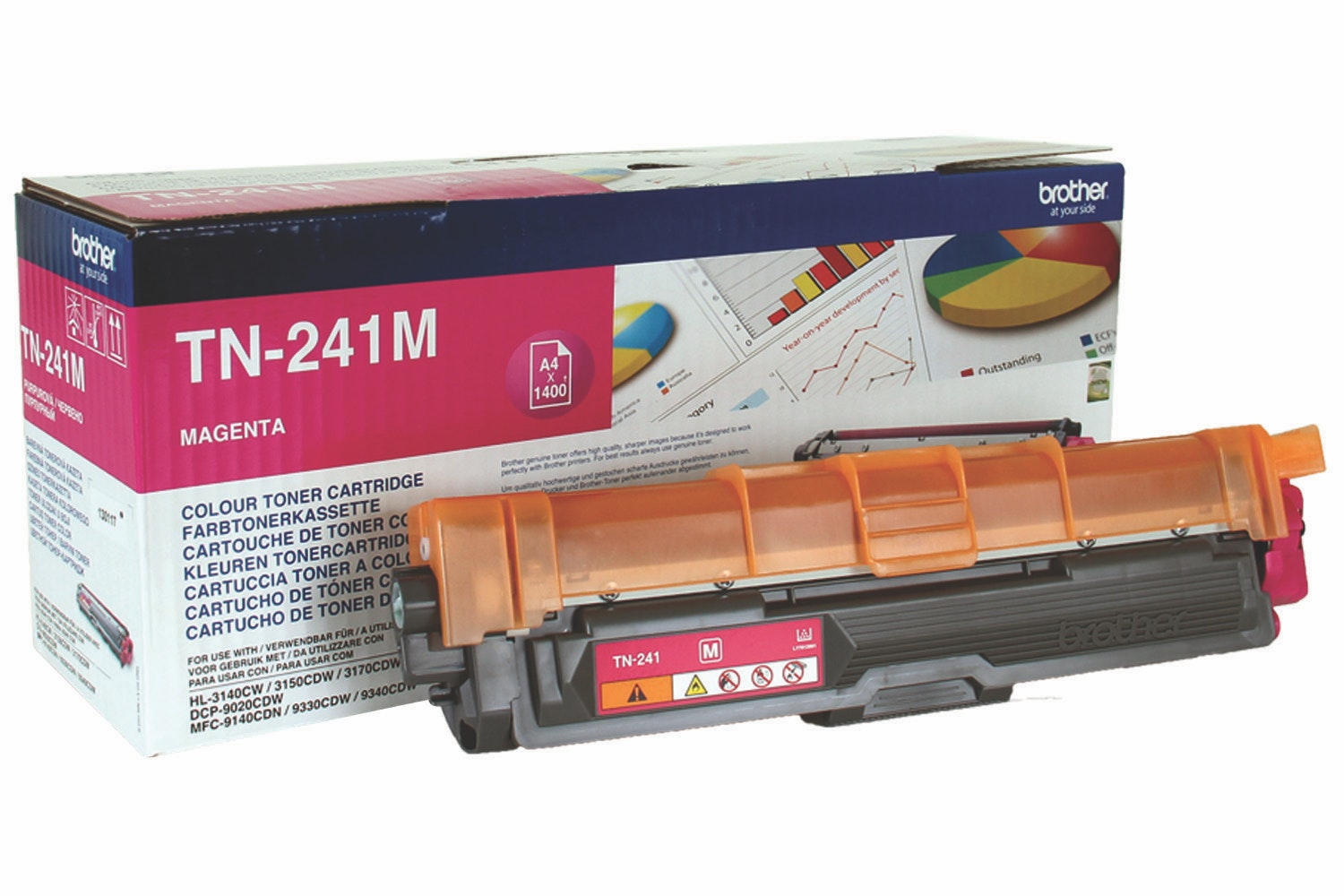 Brother TN241M Toner Cartridge | Magenta