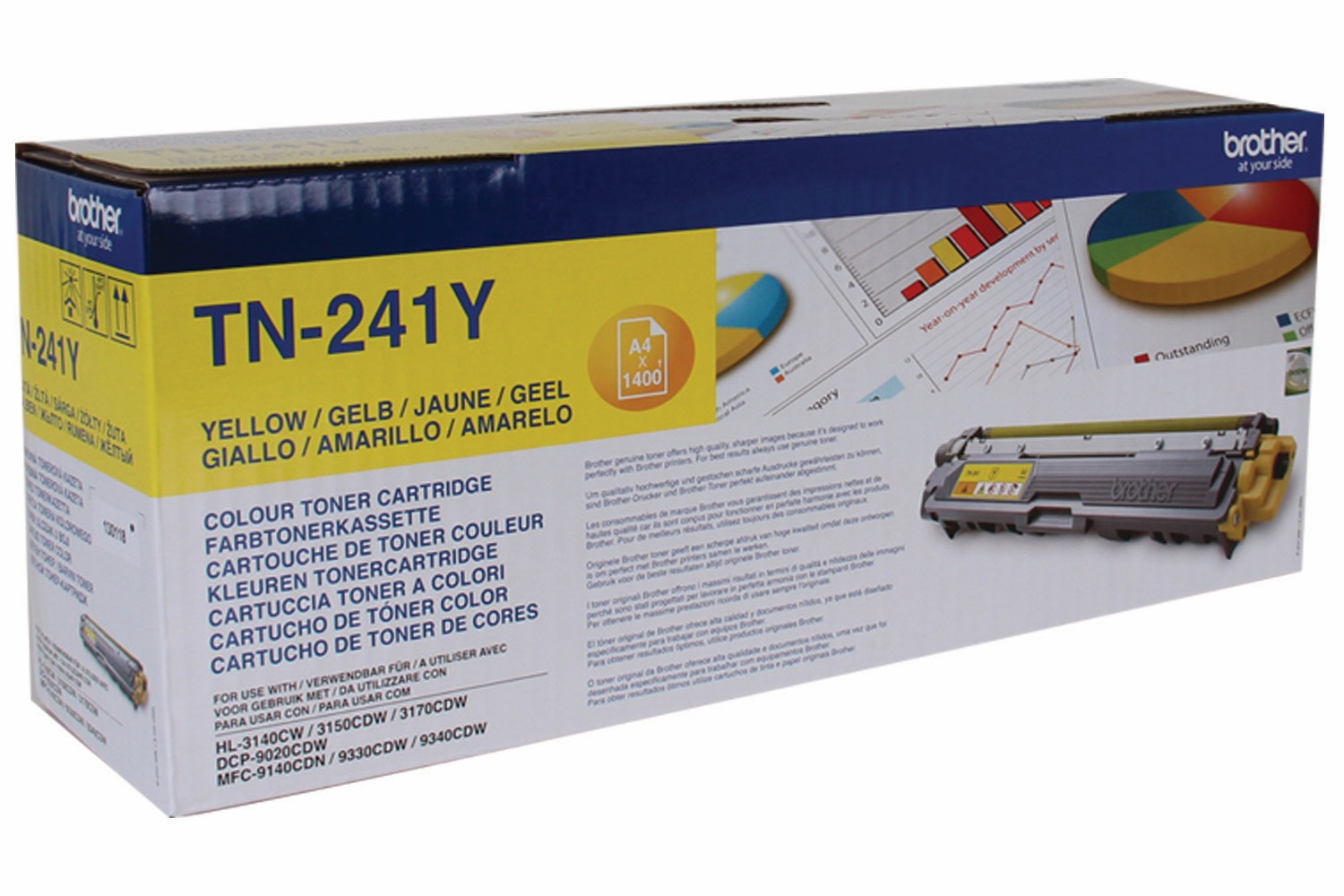 Brother TN241Y Toner Cartridge | Yellow