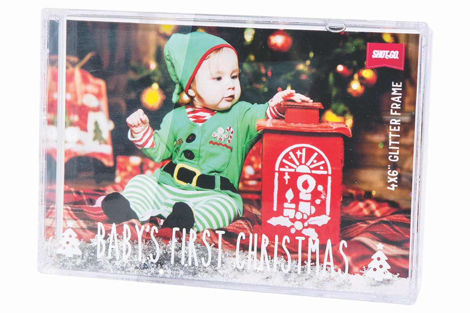 Shot2Go Glitter Frame | Baby's First Christmas