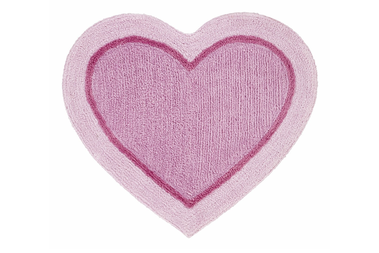 Heart Shaped Rug Pink
