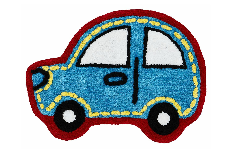 Car Shaped Rug | Blue