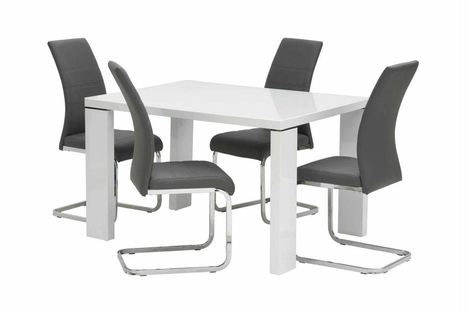 Lexi 5-Piece Dining Set | Dawson Dining Chairs Grey