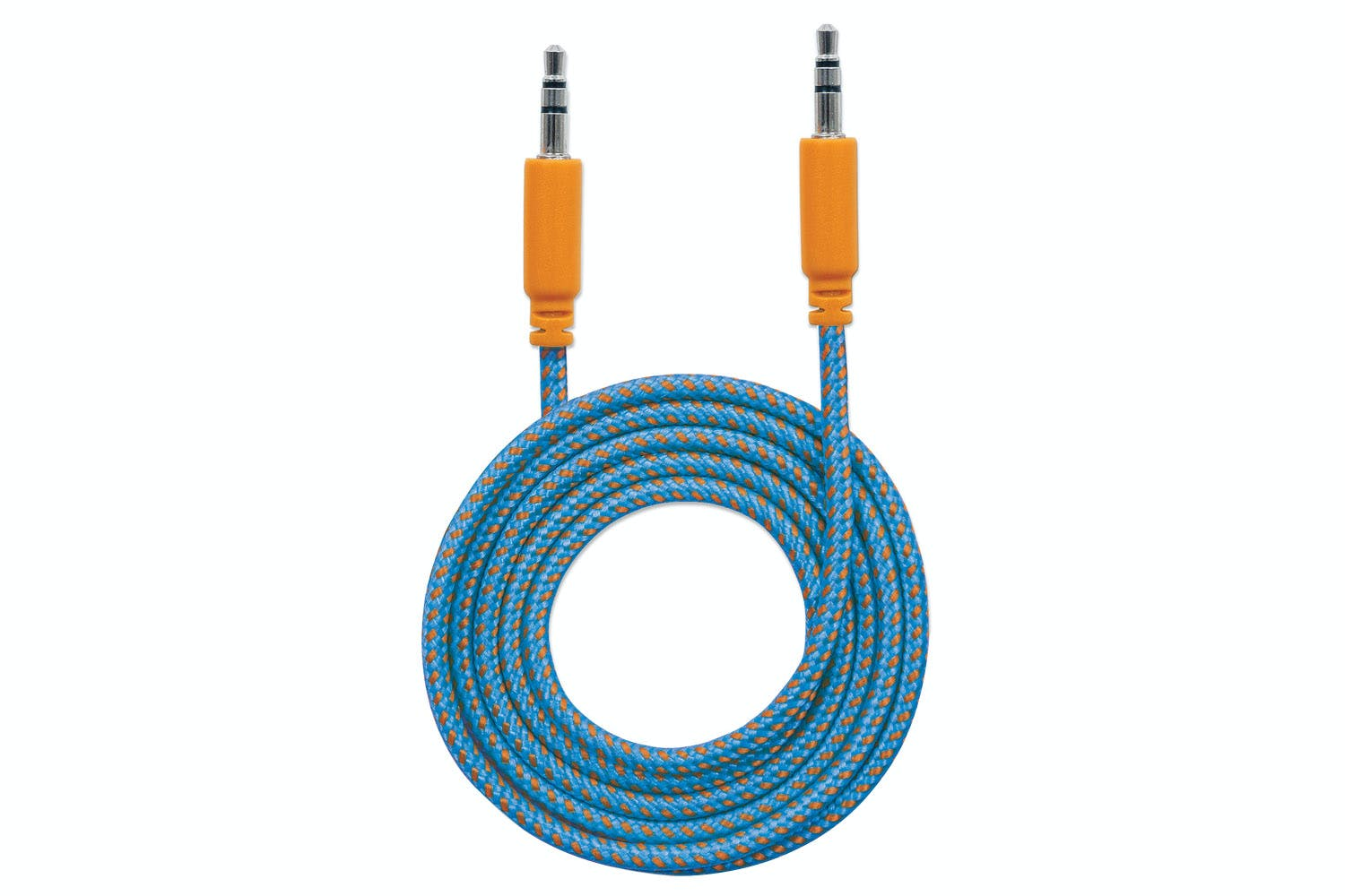 Manhattan Braided Audio Cable | 1m | Blue/Orange