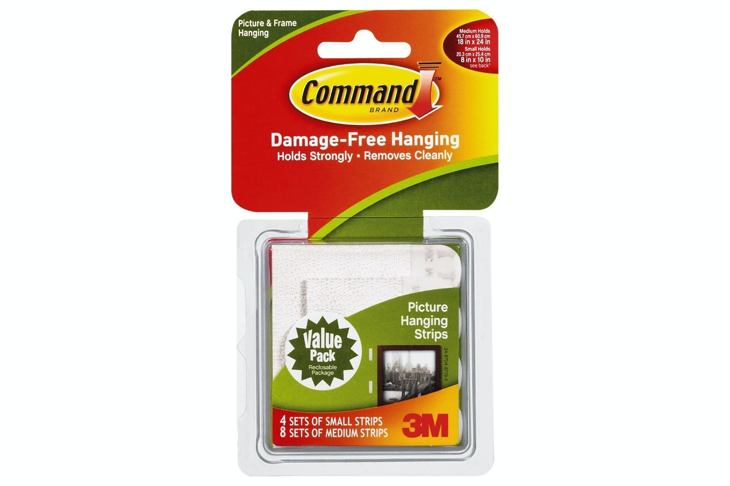3M Command Medium and Large Picture Hanging Strips