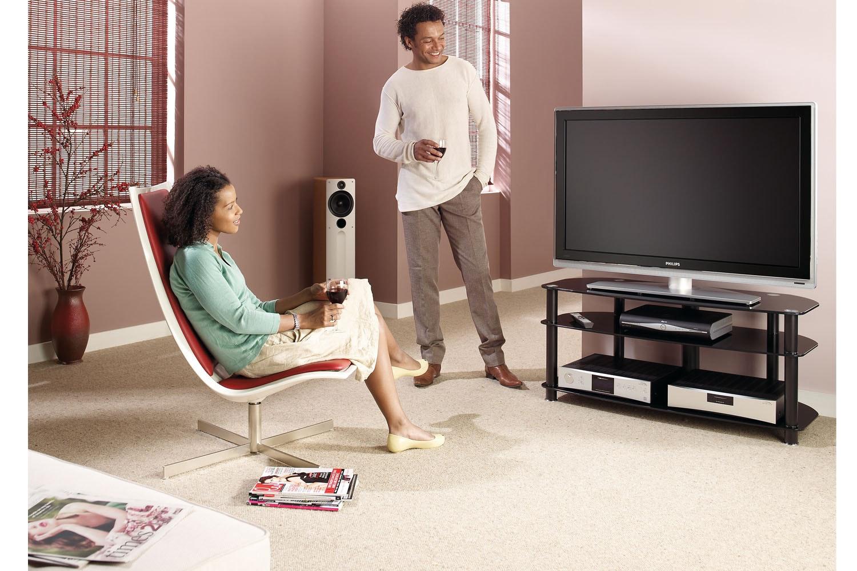 Alphason Sona 3 Tier Glass TV Stand | AVCR503BLK