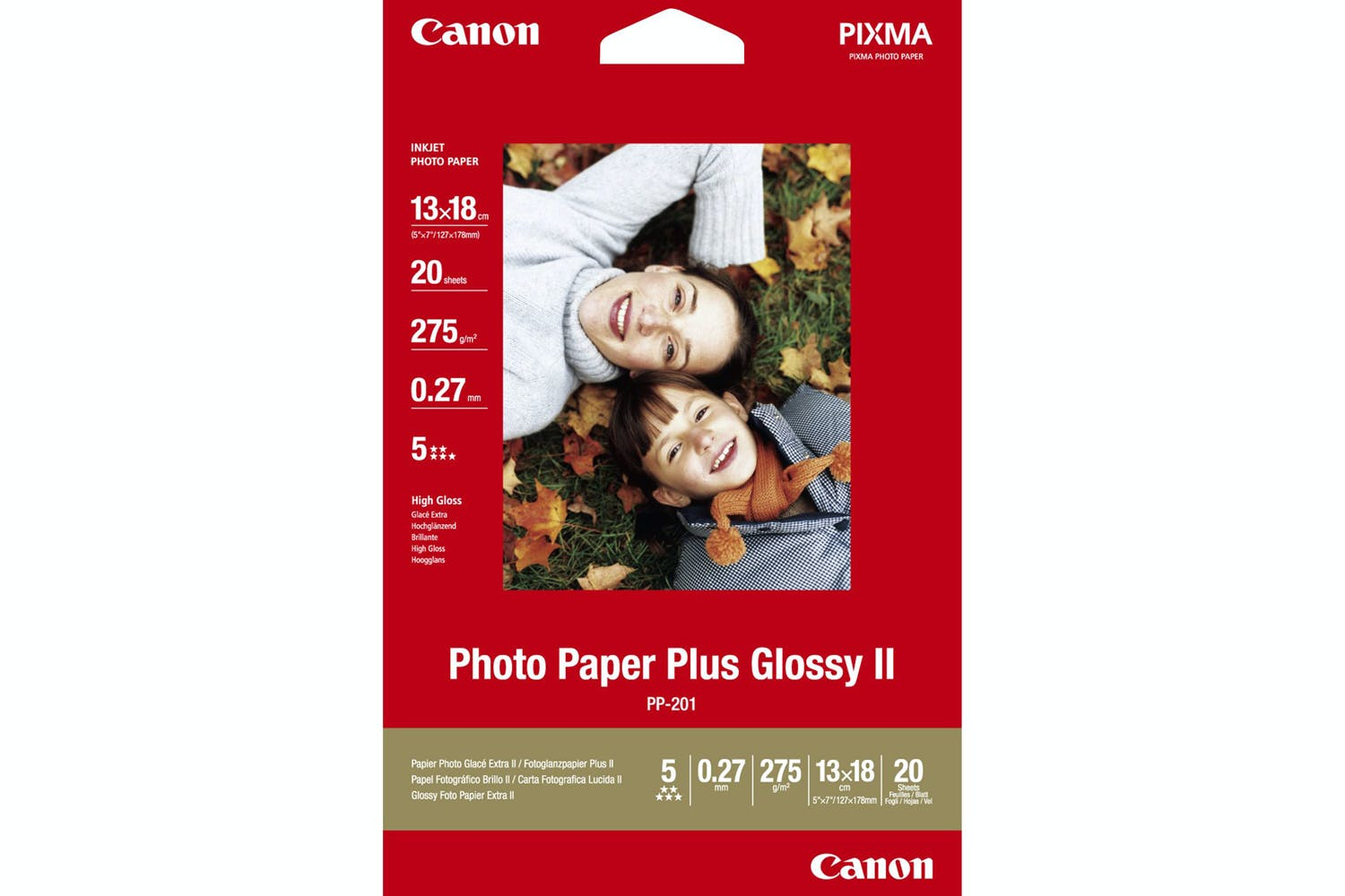 Canon Pp 201 5 X 7 Photo Paper Plus Glossy Ii 20 Sheets Ireland