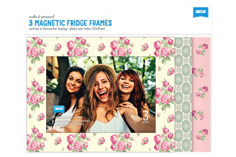 Shot2go 4x6 Fridge Magnetic Vintage Photo Frame 3 Pack Ireland